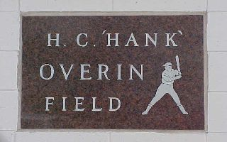 Hank Overin Field Entry Sign